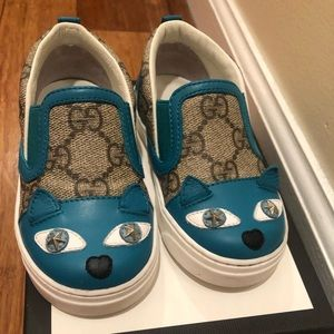 Girls Gucci slip on shoes